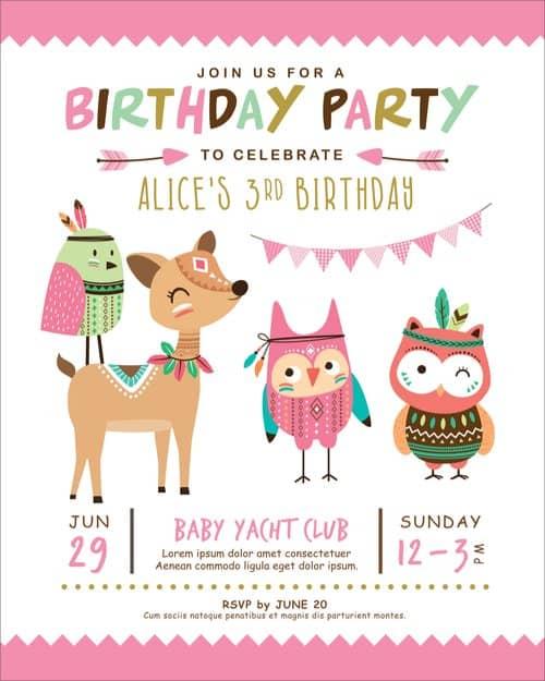 custom birthday party invitations