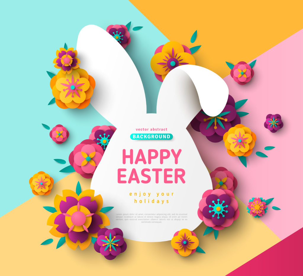Happy Easter, make Easter stickers