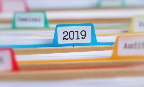 2019 custom sticker for organization, file folder