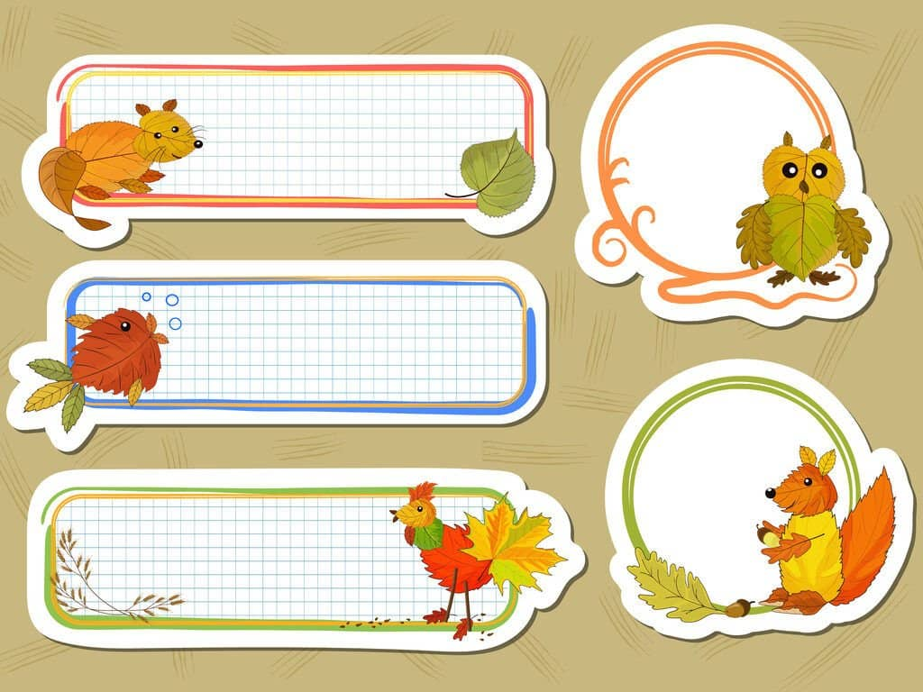 custom stickers with grid pattern