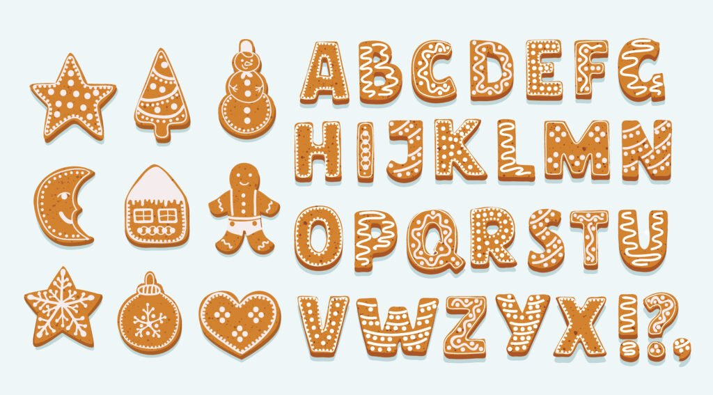 create custom stickers for the holidays, cookie stickers