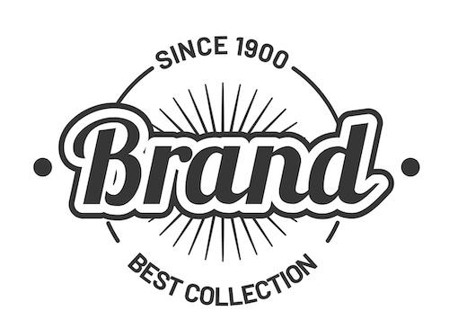 a custom Brand logo sticker example