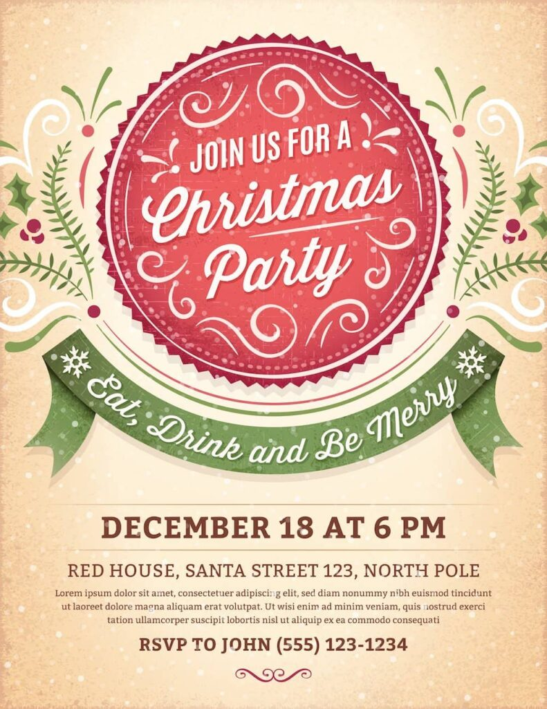 join us for a christmas party