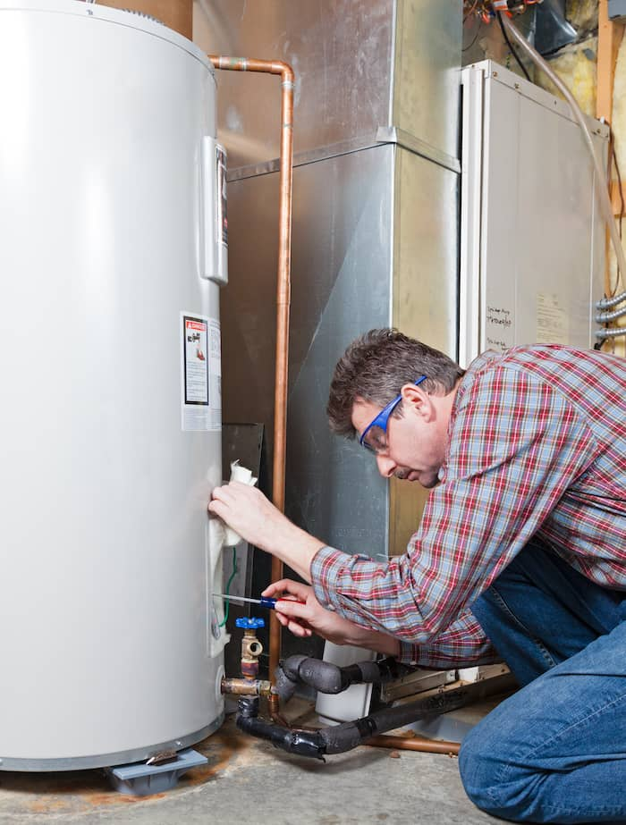water heater magnet and plumber